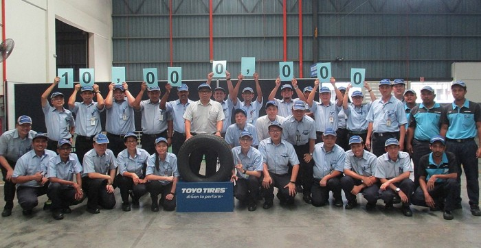 Production At Toyo Tires Malaysian Plant Exceeds 10M Units